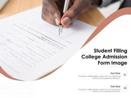 Student Filling College Admission Form Image