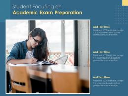 Student Focusing On Academic Exam Preparation