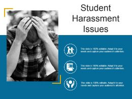 Student Harassment Issues Ppt Model