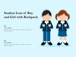 Student Icon Of Boy And Girl With Backpack