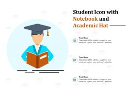 Student Icon With Notebook And Academic Hat