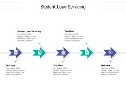 Student Loan Servicing Ppt Powerpoint Presentation File Infographic Template Cpb