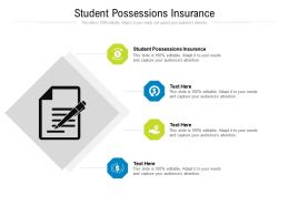 Student Possessions Insurance Ppt Powerpoint Presentation Slides Format Cpb