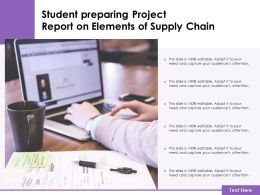 Student Preparing Project Report On Elements Of Supply Chain