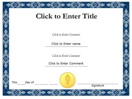Student Recognition diploma Certificate Template of Completion completion PowerPoint for Kids
