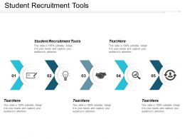 Student Recruitment Tools Ppt Powerpoint Presentation Pictures Guide Cpb