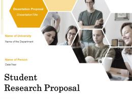 Student Research Proposal Powerpoint Presentation Slides