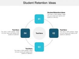 Student Retention Ideas Ppt Powerpoint Presentation Infographic Template Summary Cpb