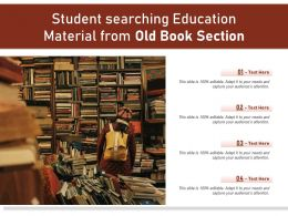 Student Searching Education Material From Old Book Section