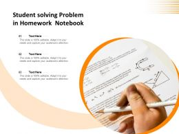 Student Solving Problem In Homework Notebook