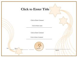 Student Success diploma Certificate Template of Appreciation completion PowerPoint for adults kids