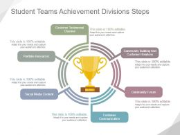 Student Teams Achievement Divisions Steps Ppt Slide Templates