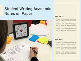 Student Writing Academic Notes On Paper