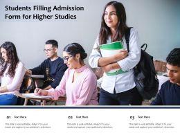 Students Filling Admission Form For Higher Studies