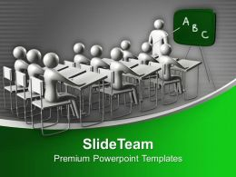 Students In Classroom Education Concept Powerpoint Templates Ppt Backgrounds For Slides 0113