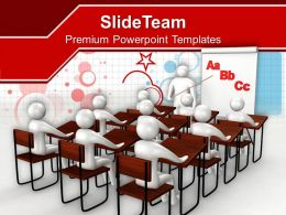 Students Learning Concept Of Education Powerpoint Templates Ppt Themes And Graphics 0113