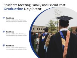 Students Meeting Family And Friend Post Graduation Day Event