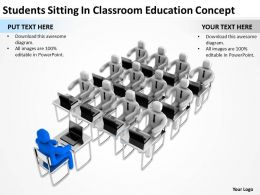 Students Sitting In Classroom Education Concept Ppt Graphic Icon