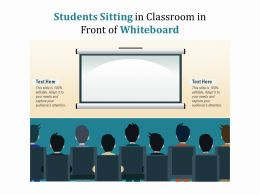 Students Sitting In Classroom In Front Of Whiteboard