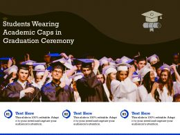Students Wearing Academic Caps In Graduation Ceremony