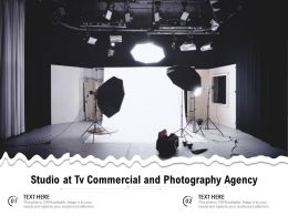 Studio At Tv Commercial And Photography Agency