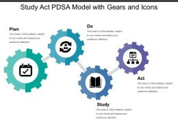 Study Act Pdsa Model With Gears And Icons