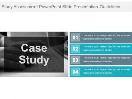 Study Assessment Powerpoint Slide Presentation Guidelines