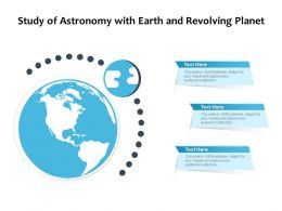 Study Of Astronomy With Earth And Revolving Planet