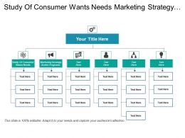 Study Of Consumer Wants Needs Marketing Strategy Action Programs