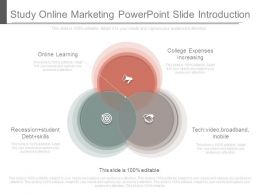 Study Online Marketing Powerpoint Slide Introduction