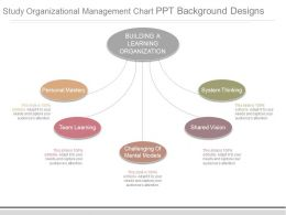 Study Organizational Management Chart Ppt Background Designs