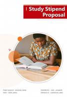 Study Stipend Proposal Example Document Report Doc Pdf Ppt