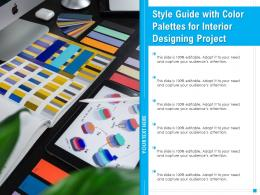 Style Guide With Color Palettes For Interior Designing Project