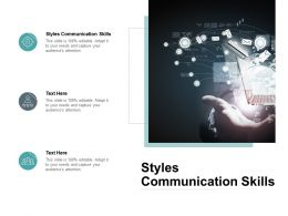 Styles Communication Skills Ppt Powerpoint Presentation Outline Grid Cpb