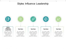 Styles Influence Leadership Ppt Powerpoint Presentation Icon Graphics Download Cpb