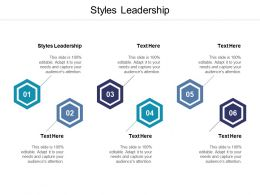 Styles Leadership Ppt Powerpoint Presentation Summary Example Cpb