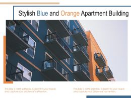 Stylish Blue And Orange Apartment Building