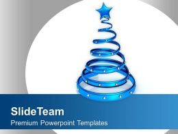 Stylish Blue Ring Christmas Decoration PowerPoint Templates PPT Themes And Graphics 0113