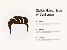 Stylish Haircut Icon Of Gentleman