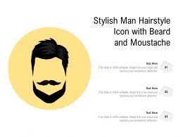 Stylish Man Hairstyle Icon With Beard And Moustache