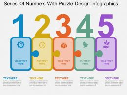 su Series Of Numbers With Puzzle Design Infographics Flat Powerpoint Design