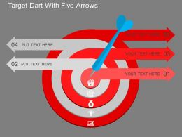 su Target Dart With Five Arrows Flat Powerpoint Design