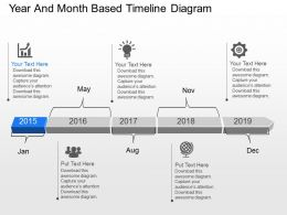 su_year_and_month_based_timeline_diagram_powerpoint_template_Slide01