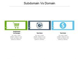 Subdomain Vs Domain Ppt Powerpoint Presentation Show Maker Cpb