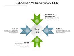 Subdomain Vs Subdirectory SEO Ppt Powerpoint Presentation Diagram Graph Charts Cpb