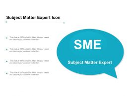 Subject Matter Expert Icon