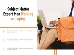 Subject Matter Expert Man Working On Laptop
