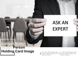 Subject Matter Expert Person Holding Card Image
