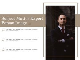 Subject Matter Expert Person Image