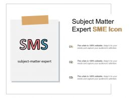 Subject Matter Expert Sme Icon